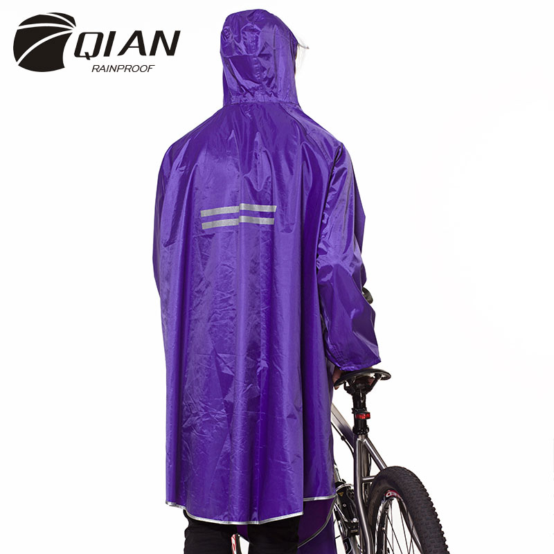 Image 3 - QIAN RAINPROOF Professional Adult Long Thicker Raincoat With 