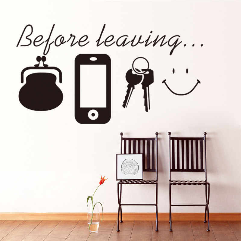 Before Leaving Reminder Car Vinyl Decal Fun Light Switch Wall Stickers  Decor
