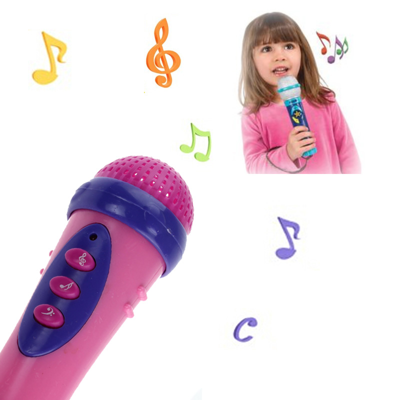 все цены на 2018 Music Toy For Kids Cute Girls Boys Microphone Mic amazing Karaoke Singing with built-in music Funny Family Toy Gift
