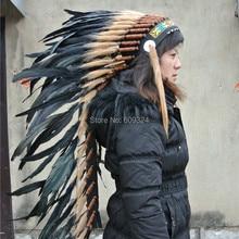 Черное перо головной убор ручной работы 36 дюймов перо головной убор оголовье костюмы Хэллоуин вечерние поставки
