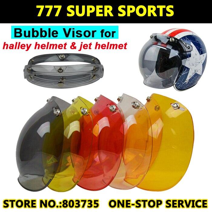 Helmets: 2016 EVO Motorcycle Helmet Visor Shield Retro Hallar Helmet Mask Vintage Helmet Bubble Visor