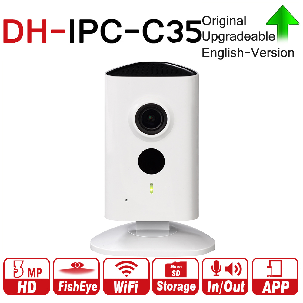 DH IPC-C35 with logo original 3MP C Series Wi-Fi Network IP Camera Wide-angle View Micro SD Card Local Storage Night Vision WiFi цена