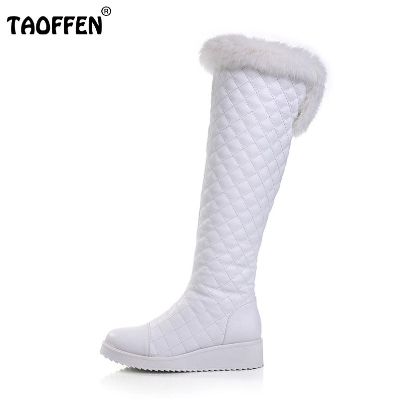 Women Flat Boots Fashion Round Toe Mid-calf Warm Snow Boots Woman Flats Shoes Ladies Sexy Brand Botas Footwear Size 35-46 B175