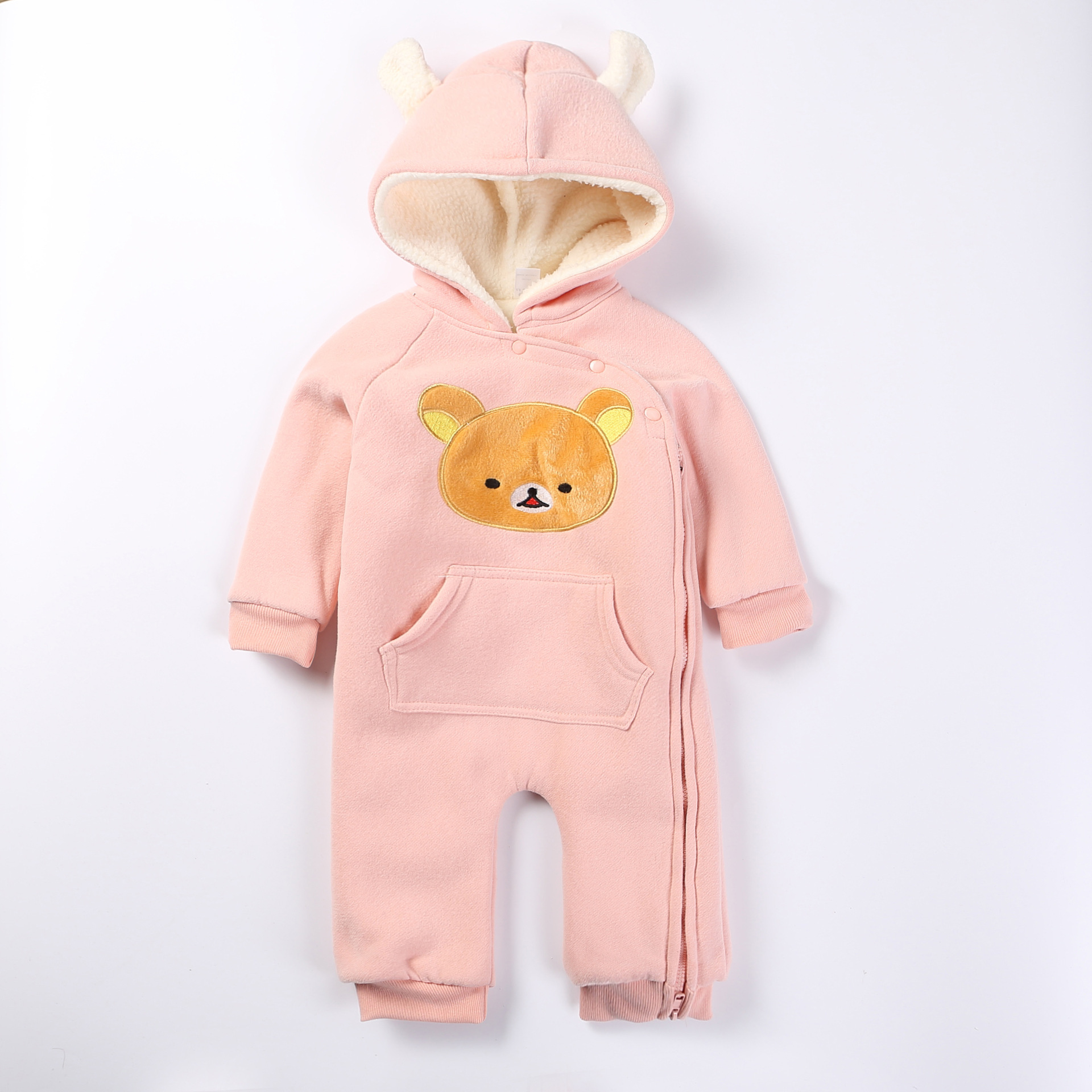 3e1dfcc4a4f6 sleek cd9f4 155b0 polar fleece infant romper clothes baby boy girl ...
