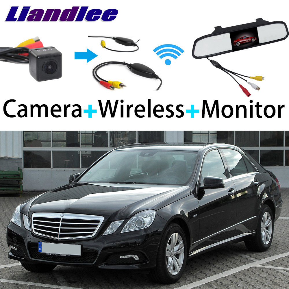 Liandlee 3in1 Wireless Receiver Mirror Monitor Special Rear View Camera Backup For Mercedes Benz E Class MB W212 S212 C207 A207 liislee 3in1 special camera wireless receiver mirror screen diy rear view parking system for mercedes benz mb b class w245