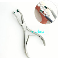 Crown Plier With Green Rubber Tipped Dental Surgical