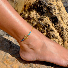 New Tortoise Bracelet For Women Charm Beads Anklet Fashion Gold Jewelry Gifts
