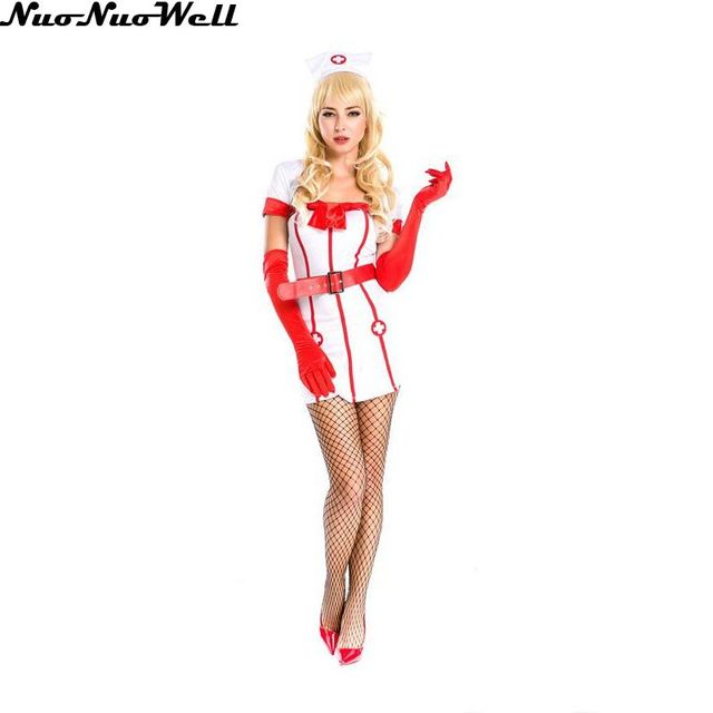 2d082ff2a27 Women Sexy Lingerie Cosplay Nurse Uniform Halloween Cosplay Costume Girls  Doctor Costume Game Role-Play Clothing Wear Clothing