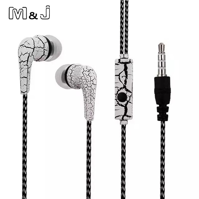 M&J Eredeti mobiltelefonok fülhallgató jégrepülőgépek fülhallgató fülhallgató mikrofonnal iPhone Samsung MP3 MP4 PC-hez