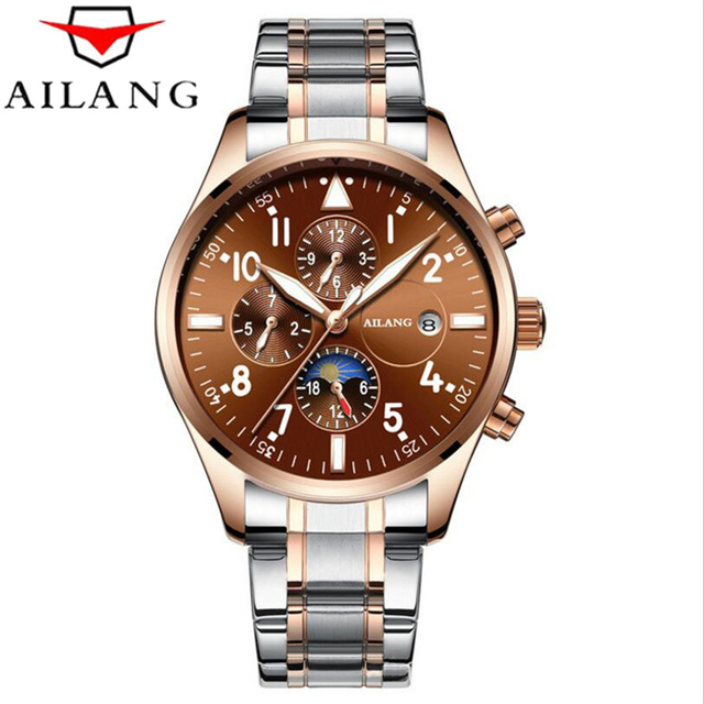 Relogio Masculion AILANG Men Top Luxury Brand Military Sport Watch Men's mechanical Clock Male Full Steel Casual Business watch