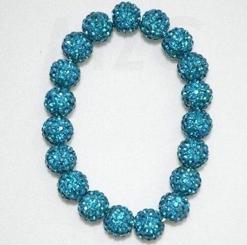 Free Shipping! Blue Ball Bead Bracelet Resin Ball Bracelet Shambhala Bracelet