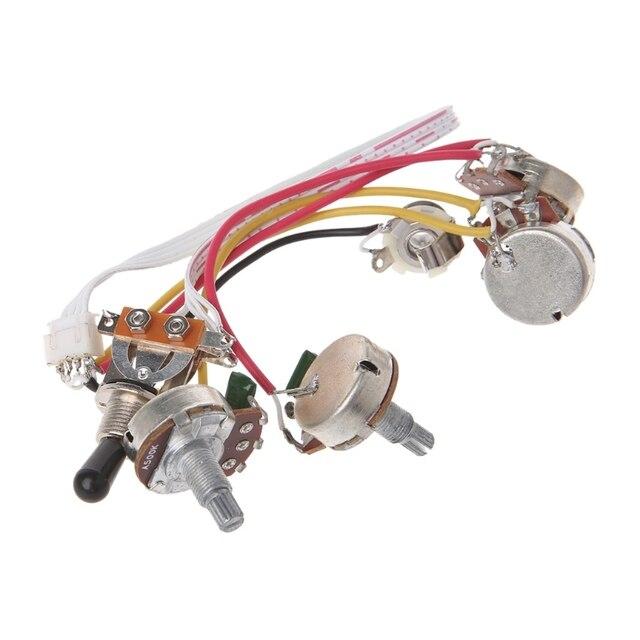 Kit de câblage de guitare électrique LP interrupteur à bascule 3 voies prise 2 Volume 2 tons