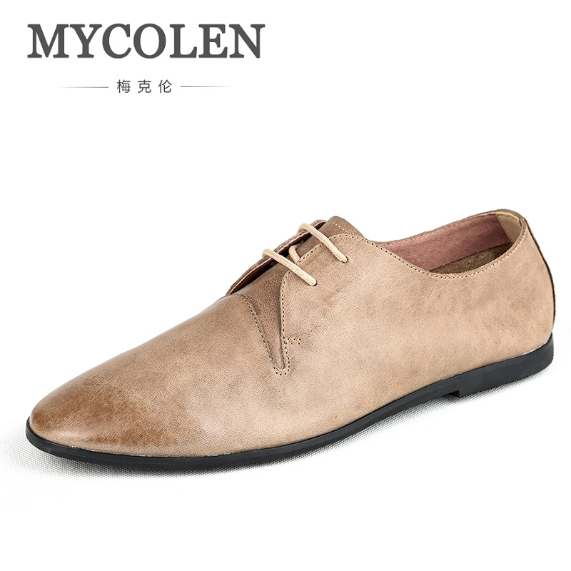 MYCOLEN Men Wedding Shoes Men Luxury Fashion Spring Leather Fashion Brand Casual Social Mens Dress Shoes Chaussure Homme Cuir fashion skull print mens top leather dress shoes designer elevator wedding shoes for men business oxfords chaussure homme