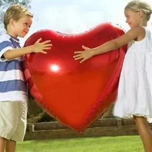 Image 1 - 結婚式の装飾風船大36インチ75センチハート箔風船バレンタインの日誕生日パーティーアニバーサリーデコレーション用品