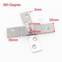 360 Degree Stainless Steel Door Pivot Hinges 95mm X 20mm 2PCS