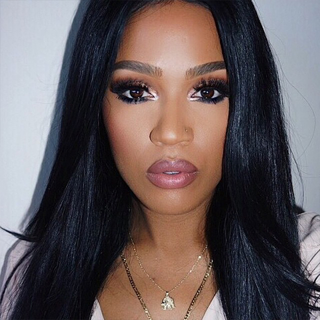 Natural Look In Pupular Full Lace Human Hair Wigs With Baby Hair Around For Ebony Beauty