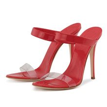 Women Sandals Ultra Thin Heel Red Party Wedding High Heels Pumps Open Toe 2018 Summer Sexy Sandalias Shoes TL-A0060 miquinha red metal leaf decoration open toe mixed color cover heel women fashion thin heel super high casual sandalias mujer