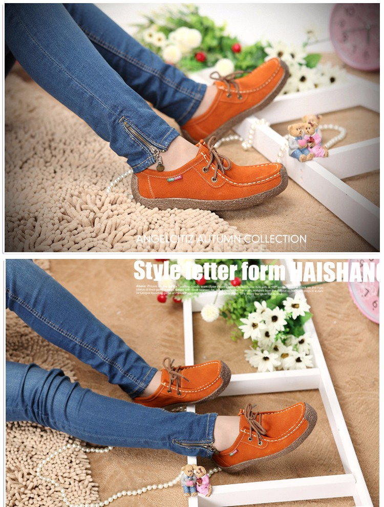 2016 Summer Fashion Woman Casual Shoes Wild Lace-up Woman Flats Comfortable Concise Woman Shoes Breathable Female Shoes aDT90 (3)