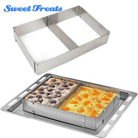 Sweettreats Stainless Steel Cake Hot Kitchen Mousse Ring New Baking Mold Oven Rectangle Adjustable