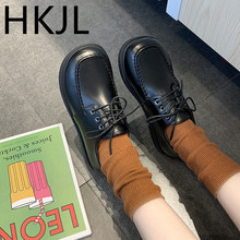 HKJL Fashion Small leather shoes female students Korean version with harajuku British style 2019 spring new single A768