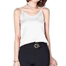 e646c75b53 Camis Silk Halter Top Women Camisole 2018 Summer Style Sexy Sleeveless Vest  Slim Tops Roupas Femininas