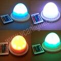 6 pcs DHL Frete Grátis Super Bright 38 LEDs RGBW iluminado alta qualidade multi-cor sem fio levou peças de mobiliário para o casamento