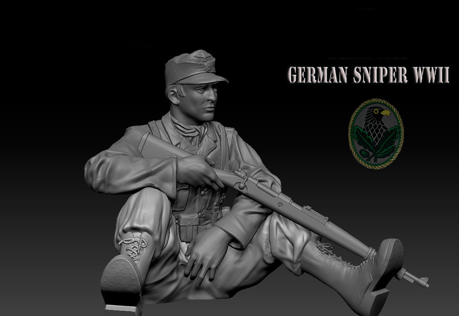 116 120mm German soldier sit and rest WWII 120mm   toy Resin Model Miniature Kit unassembly Unpainted