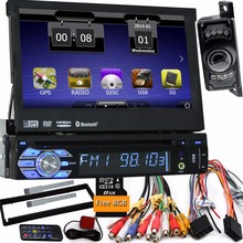 7 »один 1 DIN один din радио dvd-плеер автомобиля gps-навигатор магнитофон Авторадио плеер автомобиля Радио руль + камера автомобиля