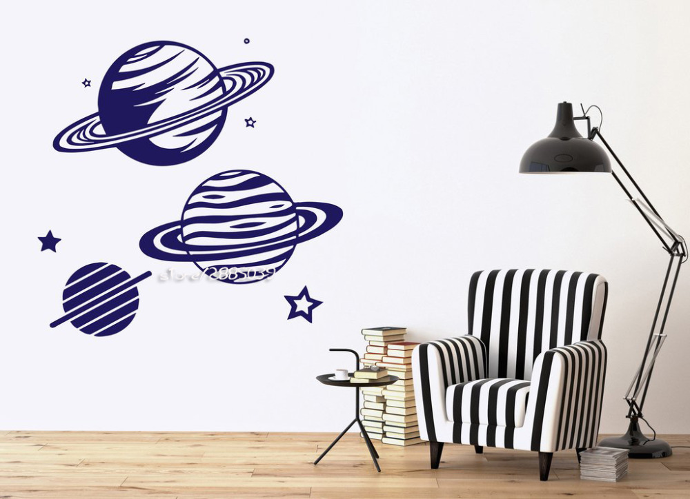 Planetarium Planets Picture Vinyl Wall Stickers Star