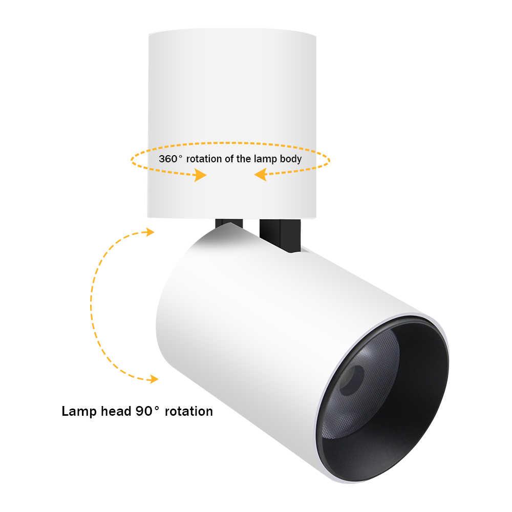 [DBF] พับพื้นผิวติดตั้งไฟ LED ดาวน์ไลท์ 7W 12W สีดำ/สีขาว HOUSING 360 องศาหมุนได้ 3000K/4000K/6000K โคมไฟเพดานจุด