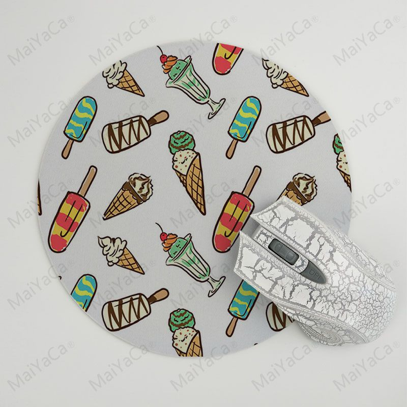 MaiYaCa Summer Ice Cream Gamer Speed Mice Retail Small Rubber Mousepad Size for 22x22x0.2cm Gaming Mousepads