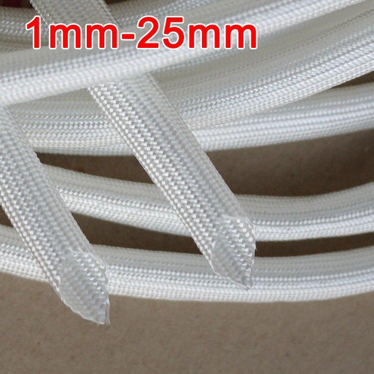 25mm 600 Deg.C High Temperature Braided Soft Fiberglass Sleeving Fiber Glass Tube