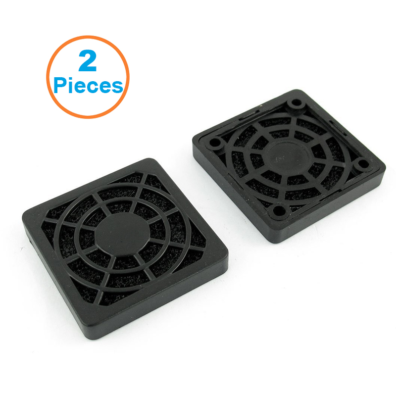2pcs/lot 4CM Computer Guard Black Plastic Dustproof Dust Filterable 40mm PC Case Fan Cooler Filter Cover,43x43mm