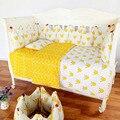 100% a estrenar 3 unids/set nordic estilo niños del algodón del bebé nursery bedding set accesorios funda de almohada cubierta de la hoja de cama de cama sack