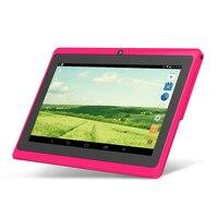 5 cor Yuntab 7 polegada Tablet Android Q88, 1024*600 A33 Quad Core 512 MB Adicionar 8 GB Câmera dupla, suporta WI-FI 3G Externo
