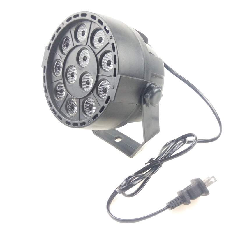 DMX512 12W RGBW LED Stage Effect Par Light by Voice Activated and DMX Control for DJ KTV Bar Disco Projector Lamp Lighting Deco