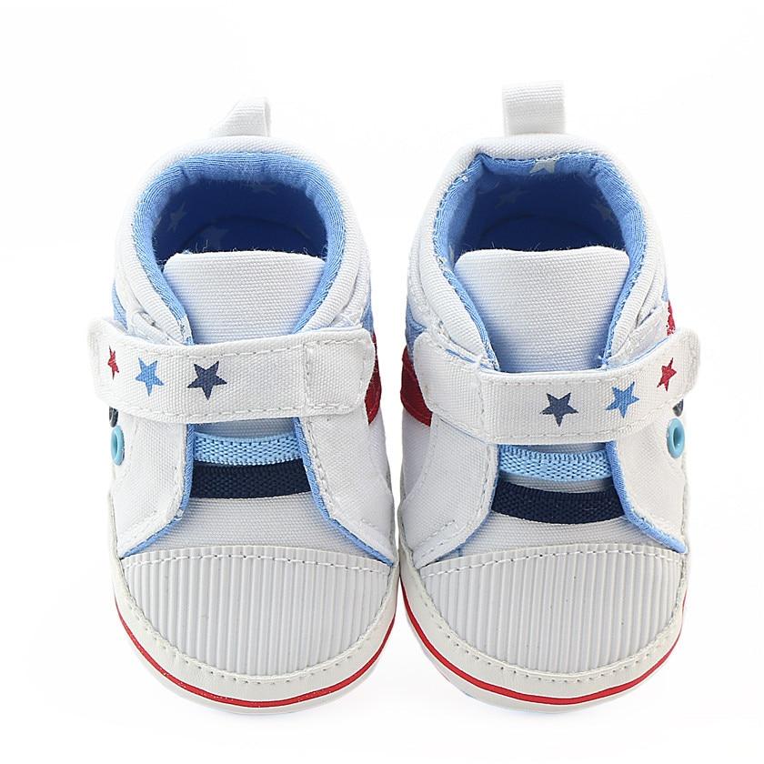 d976891950e63 Acheter Bébé Garçon Chaussures Petite Étoile First Walkers Semelle ...