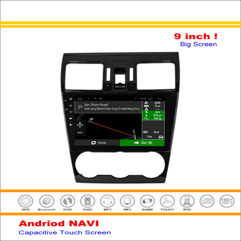 Coche Android Sistema de Navegación GPS de NAVEGACIÓN NAVI Para Subaru Forester