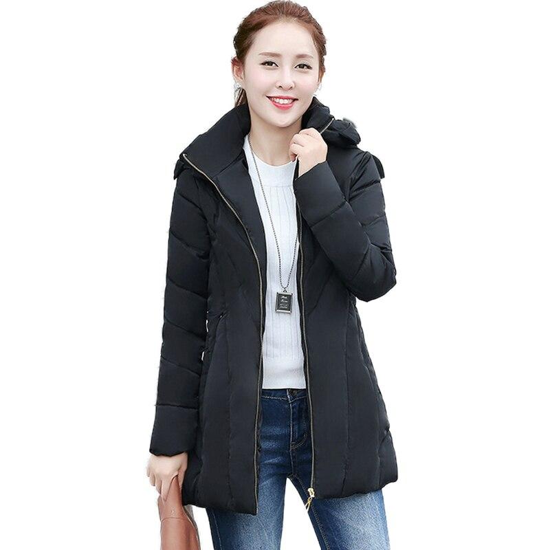 New 2016 Winter Jacket Women Slim Fashion Hooded Cotton Coat Korean Plus Size Casual Vintage Long