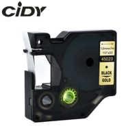 Cidy 45023 Kompatibel Dymo D1 manager 12mm schwarz auf gold label band für Dymo Label Drucker DYMO LM160 LM280 dymo PNP