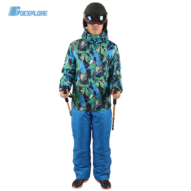 Candid Goexplore Snowboard Suit Male Skiing Sets Waterproof Windproof -30 Warm Outdoor Snow Clothes Ski Sets Jackets And Pants For Men