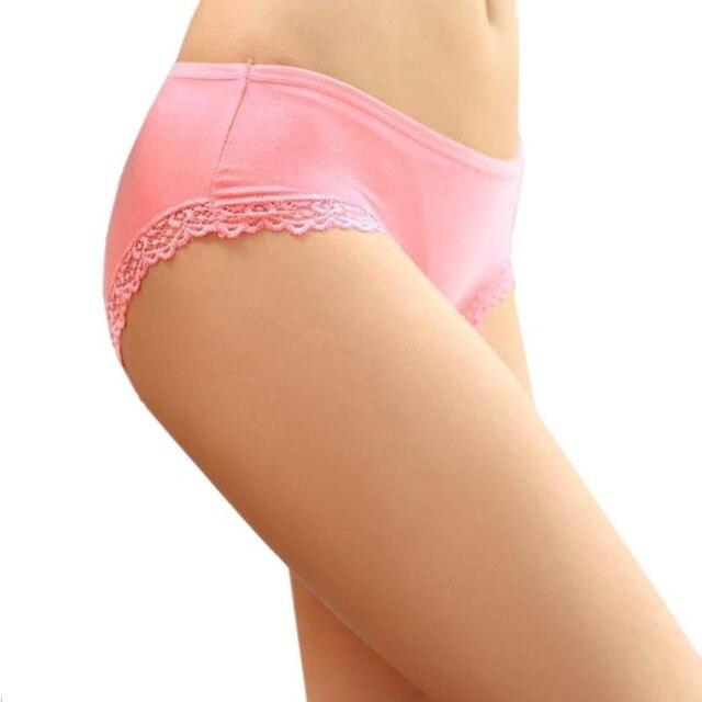 11051e848a1 (5Pcs Lot) 100% Quality Women s Underwear Bamboo Fiber Women Panties Sexy Lace  Ladies lingerie Briefs Wholesale