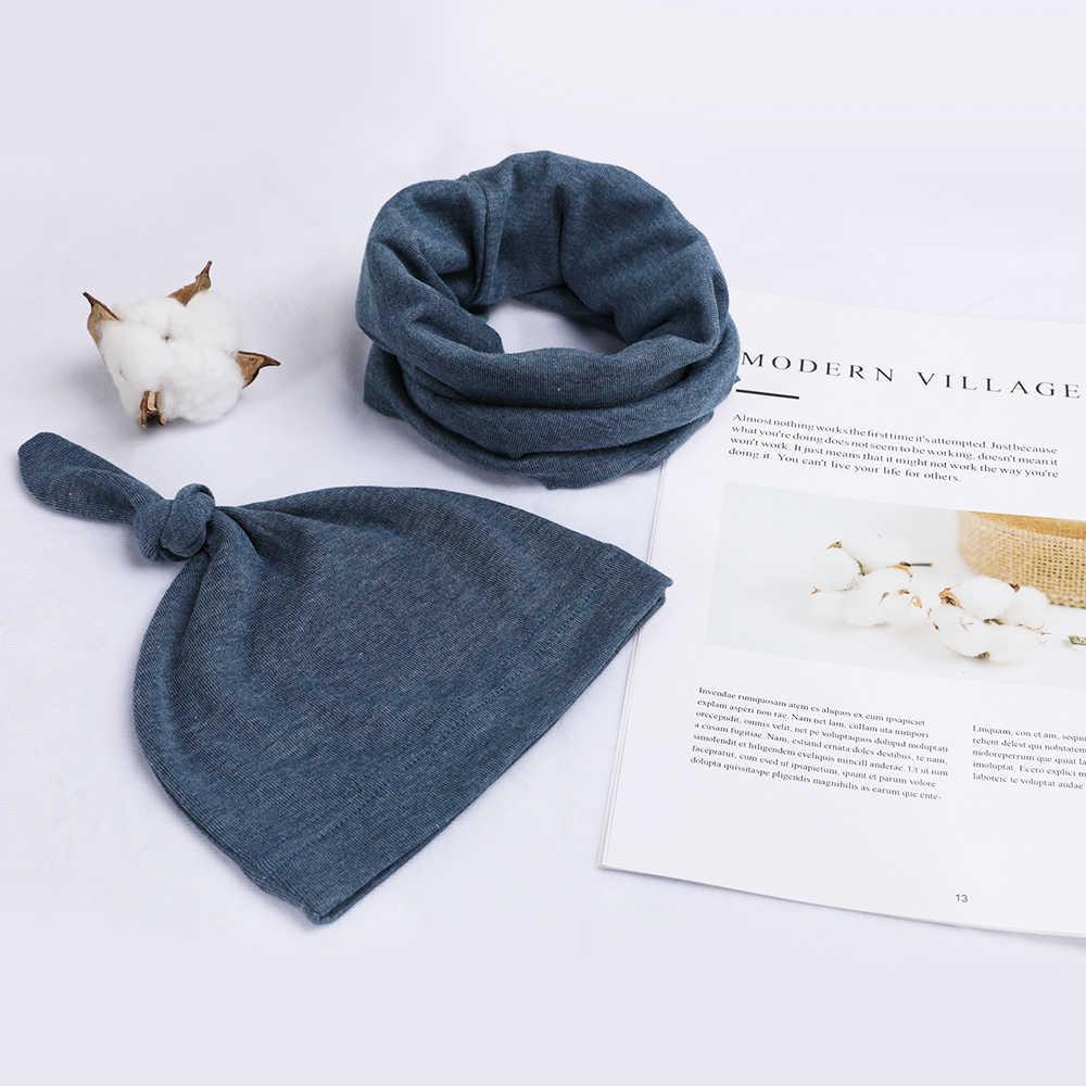 5 kolory bawełna noworodka czapki dla dzieci i kapelusze z dziecko szalik połączenie pakietów zestaw różowy żółty i niebieski dla noworodka dla niemowląt