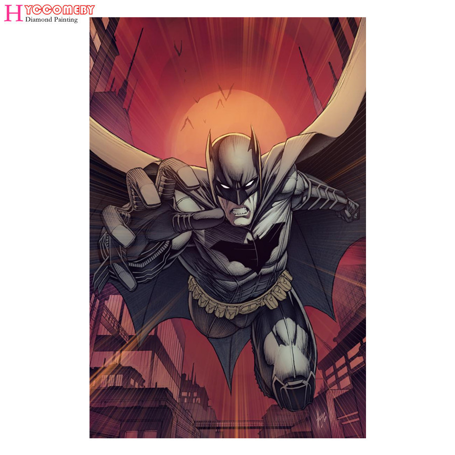 5d diy diamond embroidery Movie Poster Batman diamond painting Cross Stitch full round drill Rhinestone mosaic home decoration