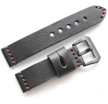 Black buckle 20mm 22mm 24mm 26mm High Quality Men strap Vintage Genuine Leather Big Watchband Brown Watch Straps for Panerai PAM