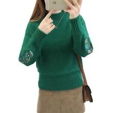 купить Women Winter Knit Pullovers Sweater 2019 New Thicken Warm Jumper Tops Female Korean Loose Half-high Collar Winter Sweaters X752 по цене 1949.58 рублей