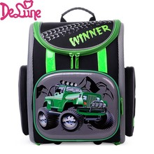 2017 Russia Brand Delune Racing Cars School Bags for Boys Waterproof Orthopedic Backpacks Mochila Infantil Kids
