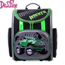 2017 rusia marca delune racing cars school para niños impermeable ortopédicos niños bolsas mochilas mochila infantil
