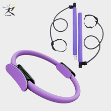 Yoga Pilates Circle Stick bar Resistance Bands Set Fitness Equipment Exercise Ring Body Building Training