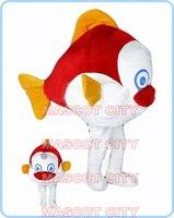 Clown fish maskotki maskotki kostium dla dorosłych rozmiar jakości cartoon ryb morskich tematyczne anime cosplay kostiumy karnawałowe fancy dress 2609